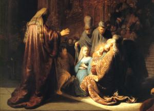 Rembrandt - Presentazione di Gesù al tempio